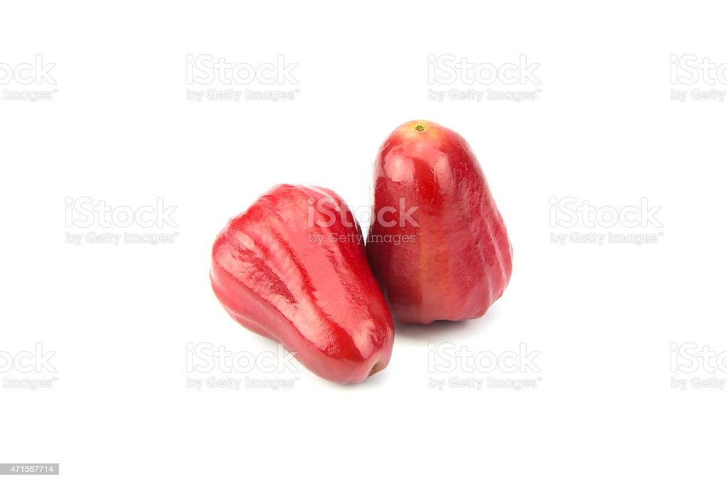 Rose apples or chomphu isolated on white background stock photo
