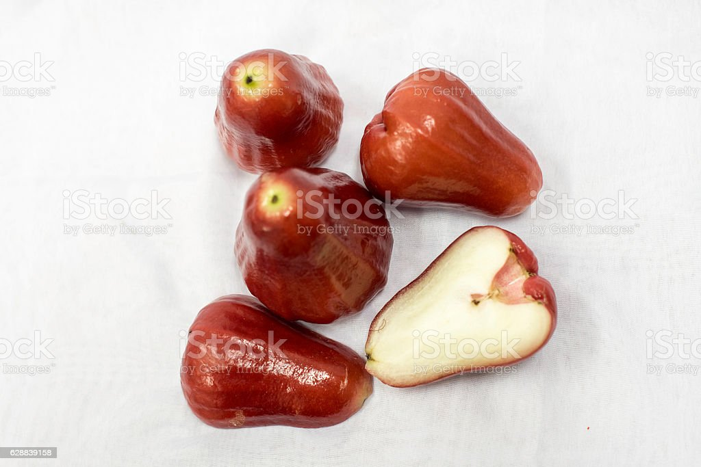 Rose apple,top view. stock photo