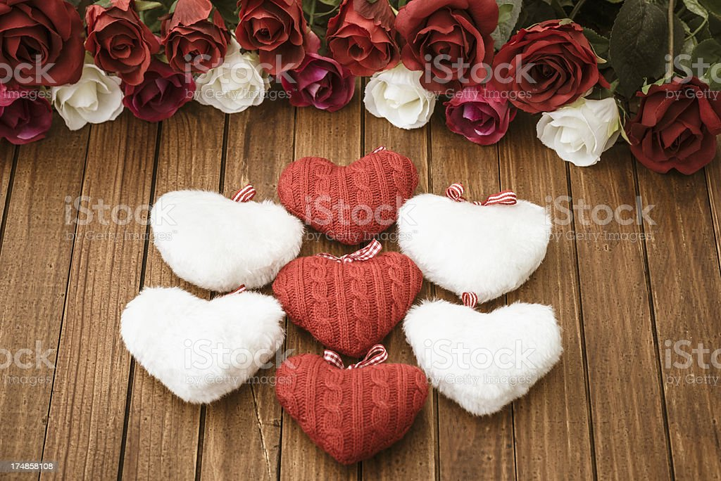 Rose background decoration for St. valentine royalty-free stock photo