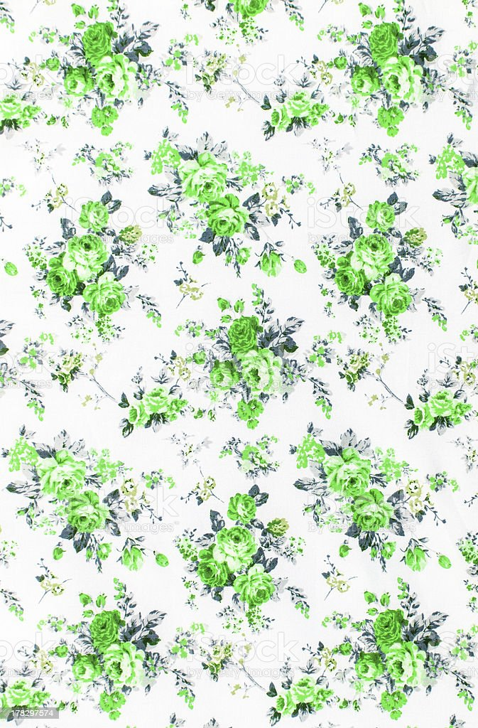 Rose bouquet design Seamless pattern on fabric as background royalty-free stock photo