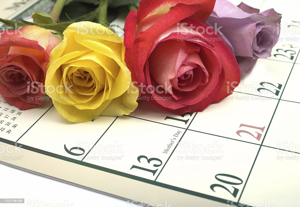 Rose bouquet for mothers day royalty-free stock photo
