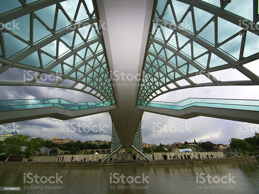 Rose bridge stock photo