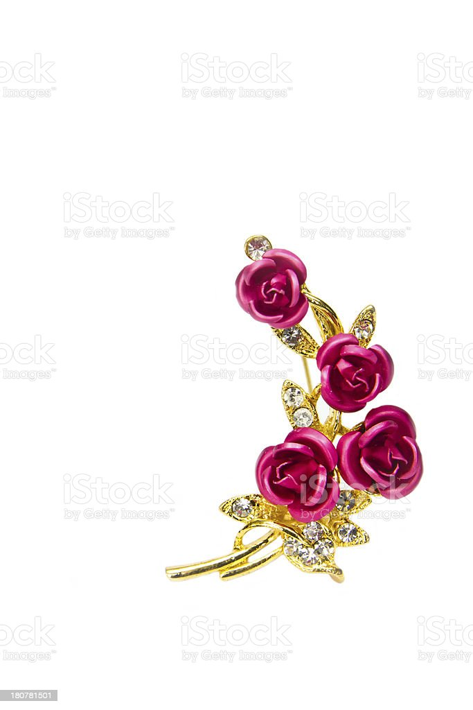Rose brooch royalty-free stock photo