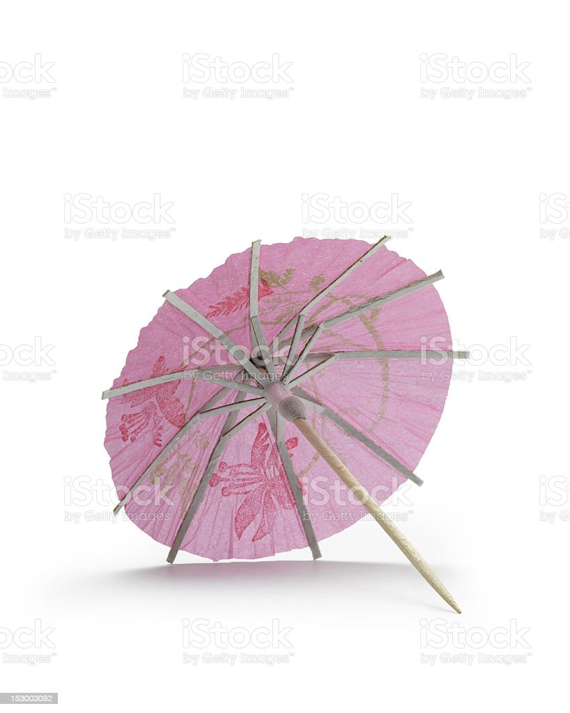 rose cocktail umbrella royalty-free stock photo