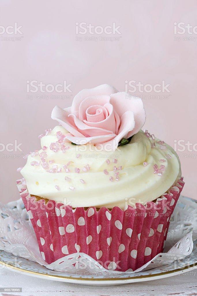 Rose cupcake royalty-free stock photo