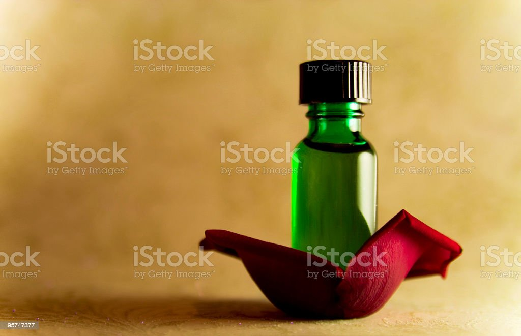 Rose essential oil royalty-free stock photo
