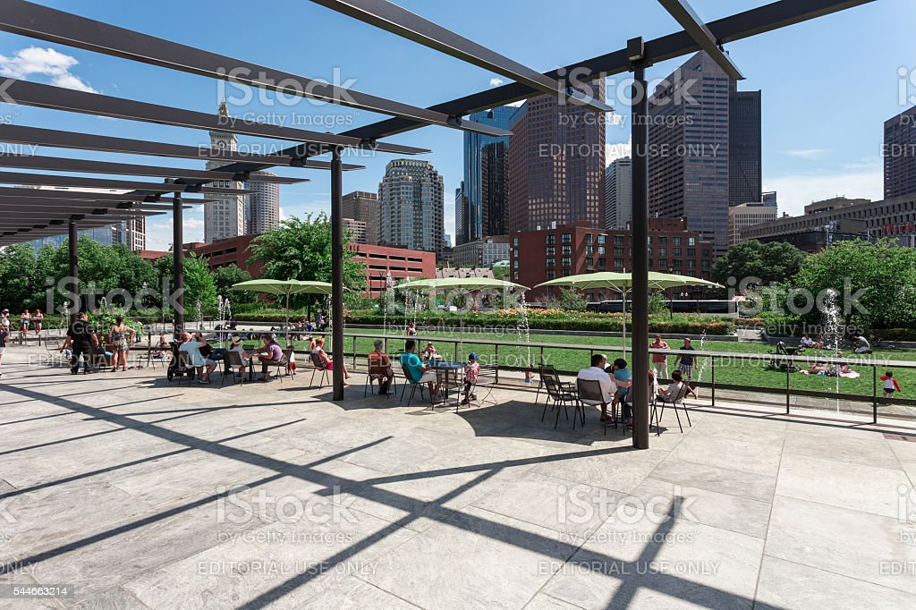 Rose Fitzgerald Kennedy Greenway in Boston stock photo