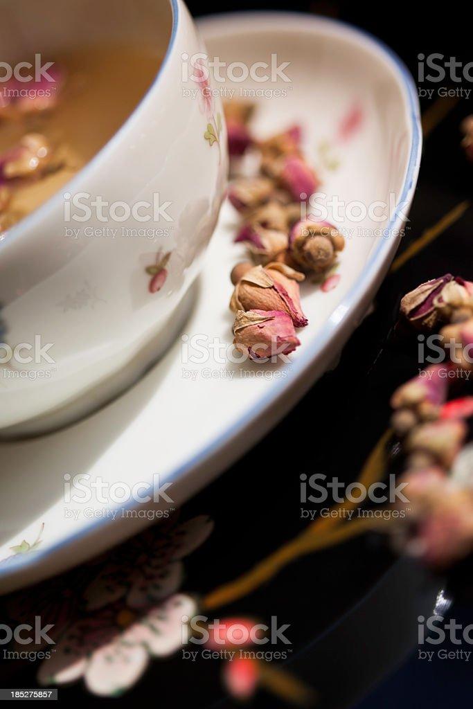 Rose Flower Tea stock photo