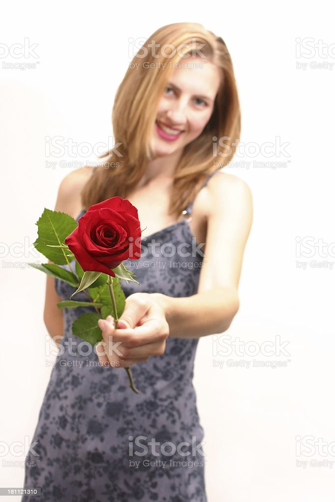 Rose For The Lady... royalty-free stock photo