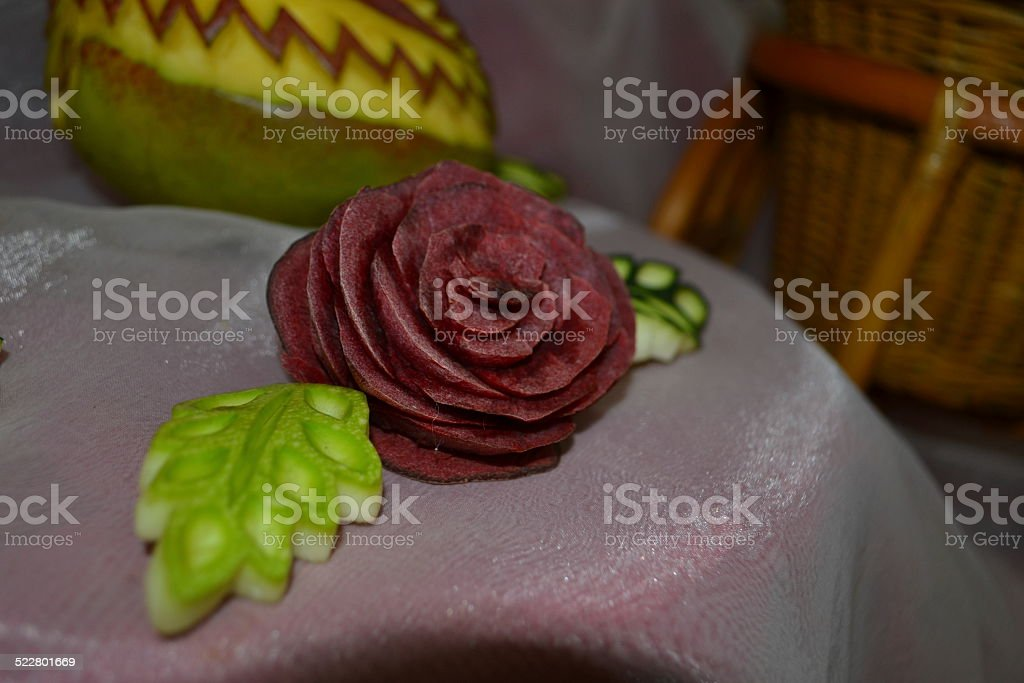 rose from beet stock photo