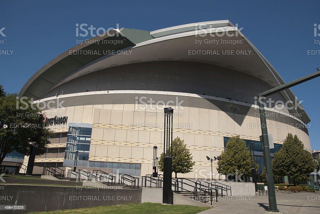 Rose Garden Arena in Portland, Oregon stock photo