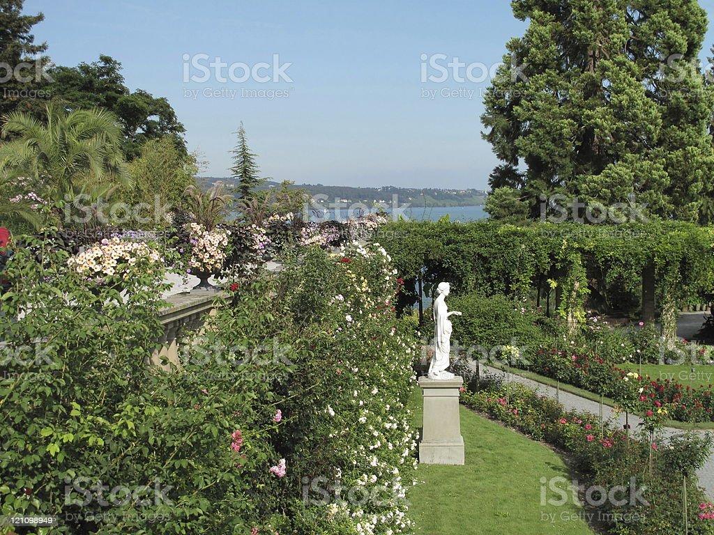 Rose Garden - Lake Constance stock photo