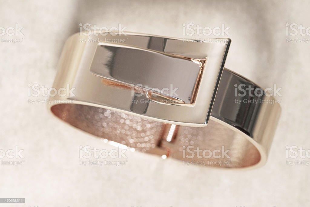 Rose Gold Bracelet stock photo