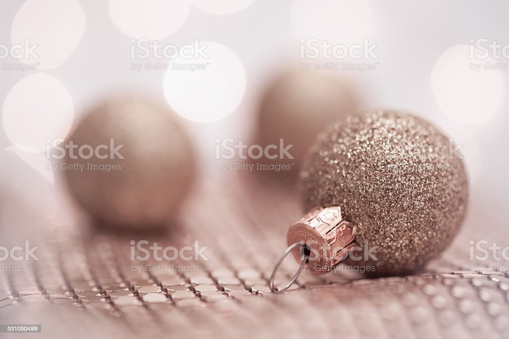 Rose Gold Christmas Decoration stock photo