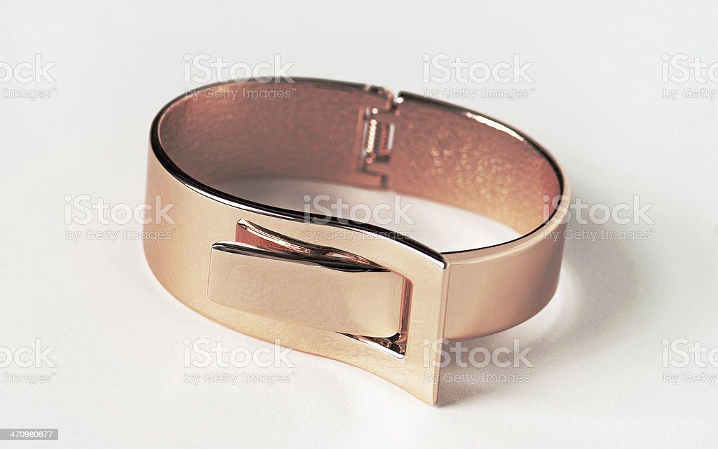 Rose Gold Expandable Bracelet stock photo