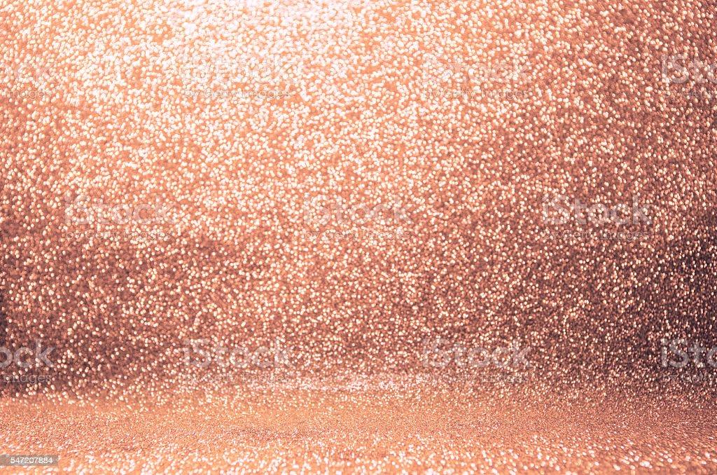 Rose Gold glitter background stock photo
