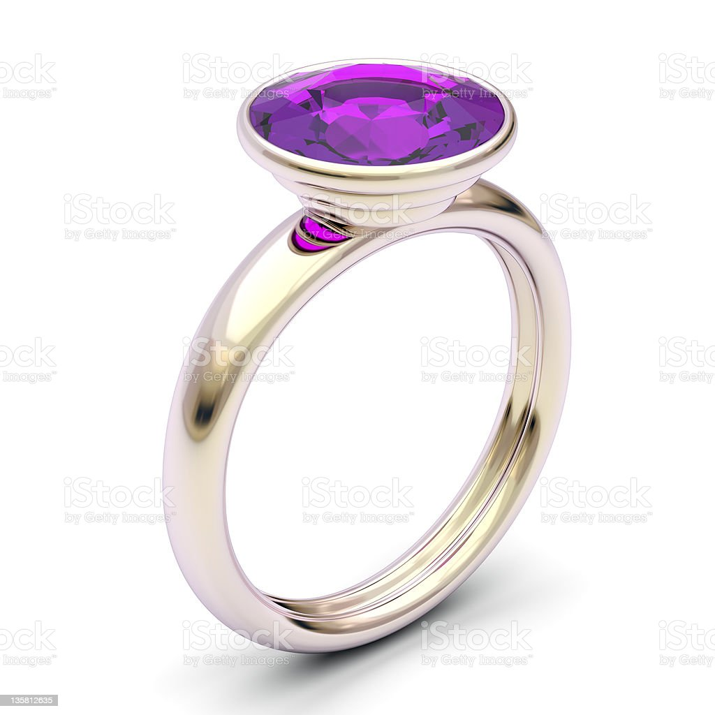 Rose gold ring stock photo