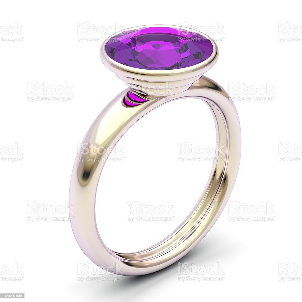 Rose gold ring stock photo