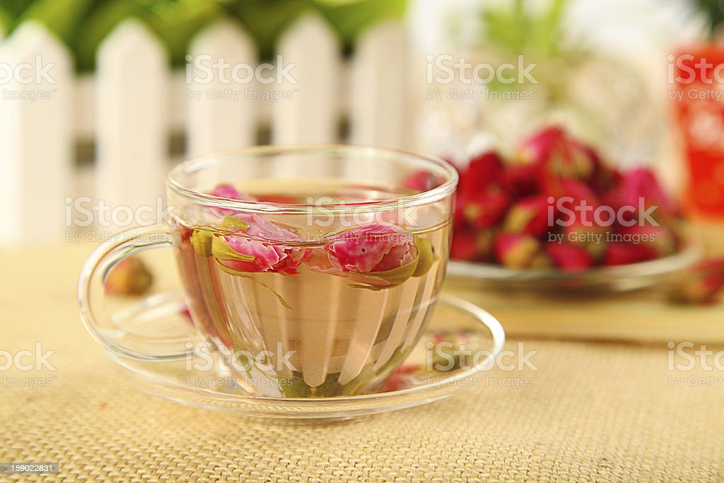Rose Herbal Tea royalty-free stock photo