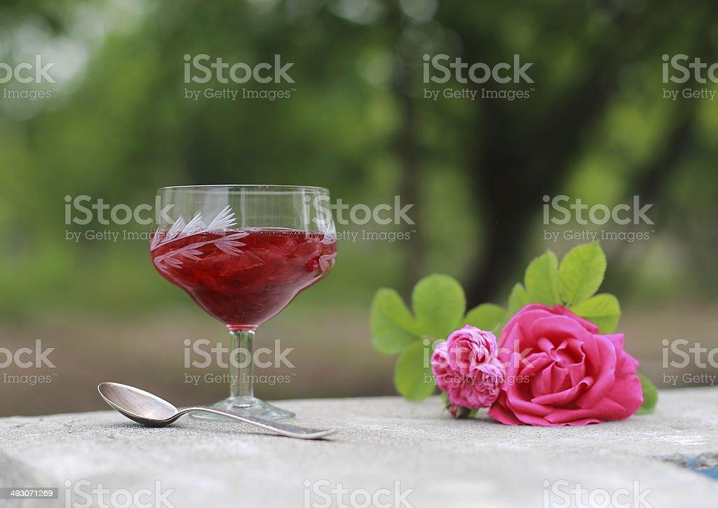 Rose jam stock photo