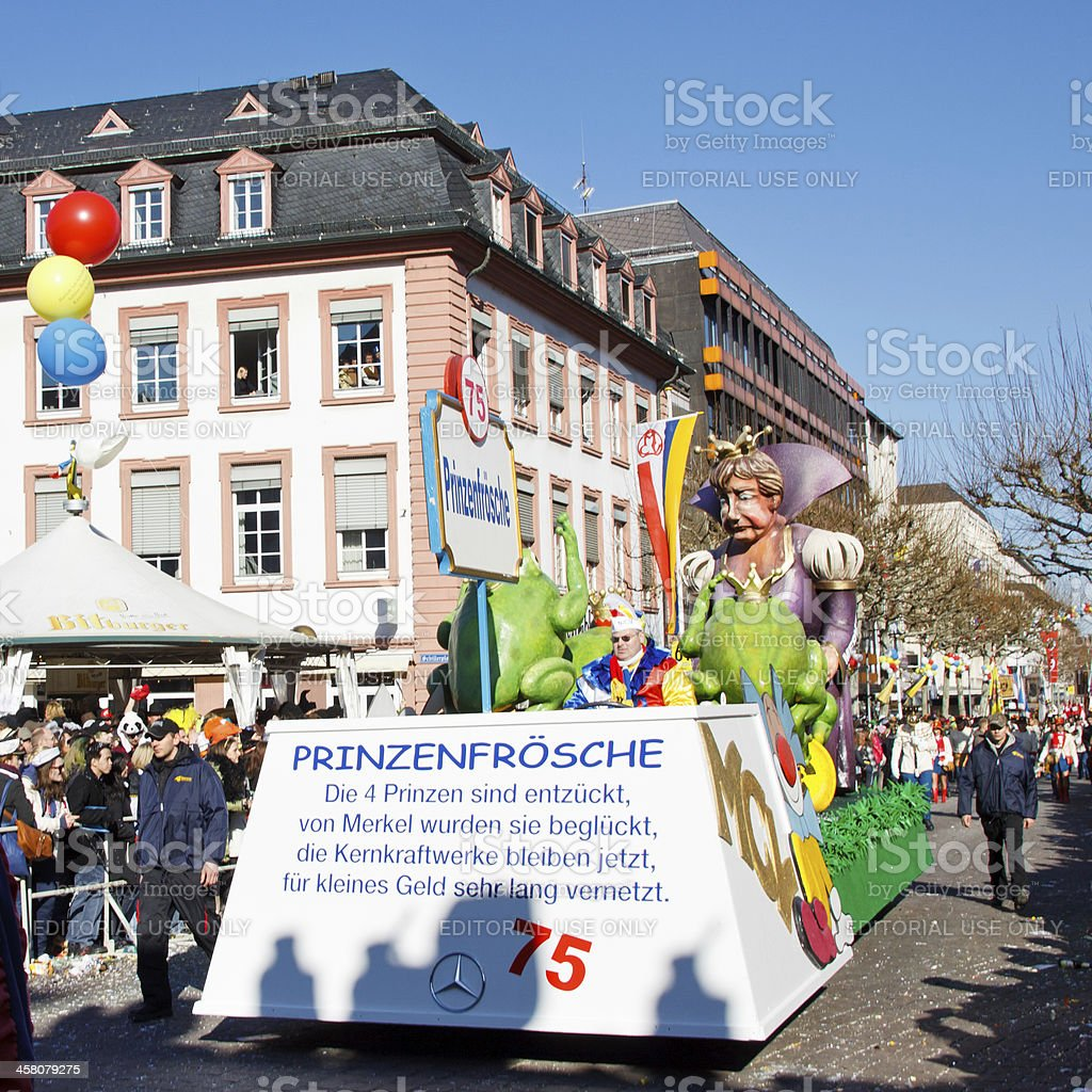 Rose Monday Parade (Rosenmontagszug) 2011 in Mainz, Germany royalty-free stock photo