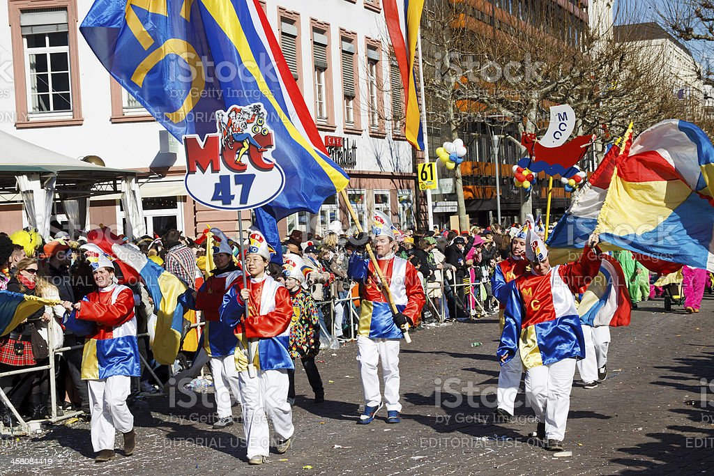 Rose Monday Parade (Rosenmontagszug) 2011 in Mainz, Germany stock photo