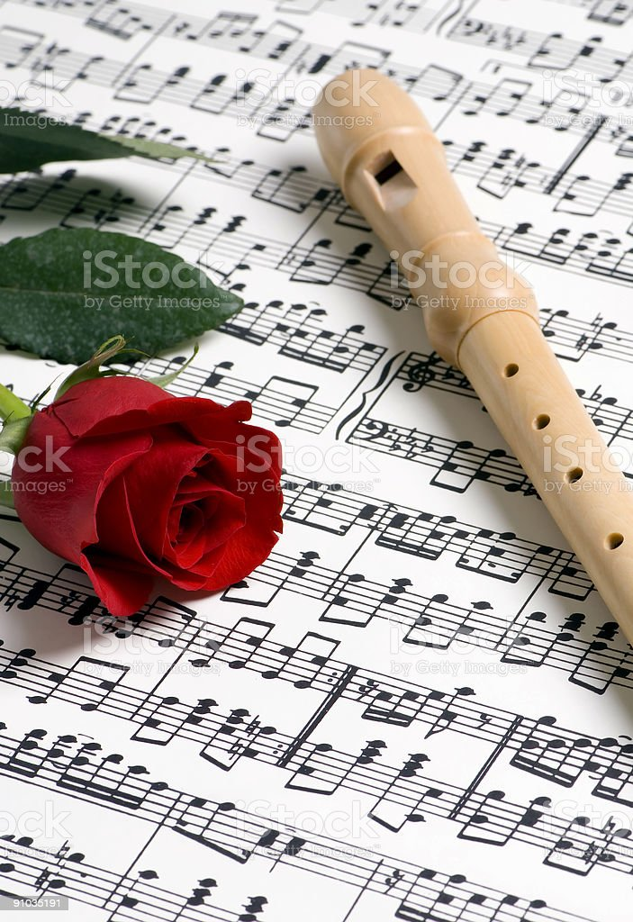 Rose Music 1 royalty-free stock photo