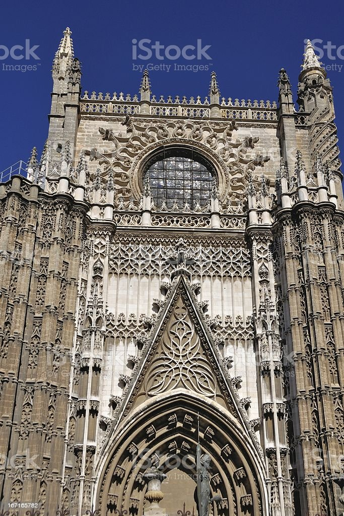 Rose of Cathedral. Seville, Spain royalty-free stock photo