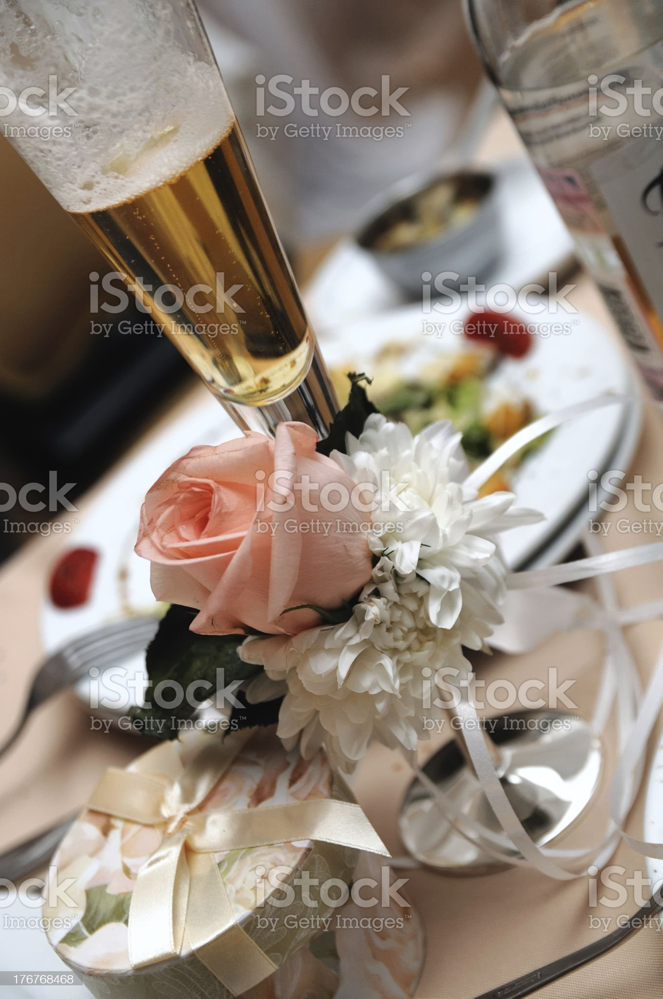 rose on glass royalty-free stock photo
