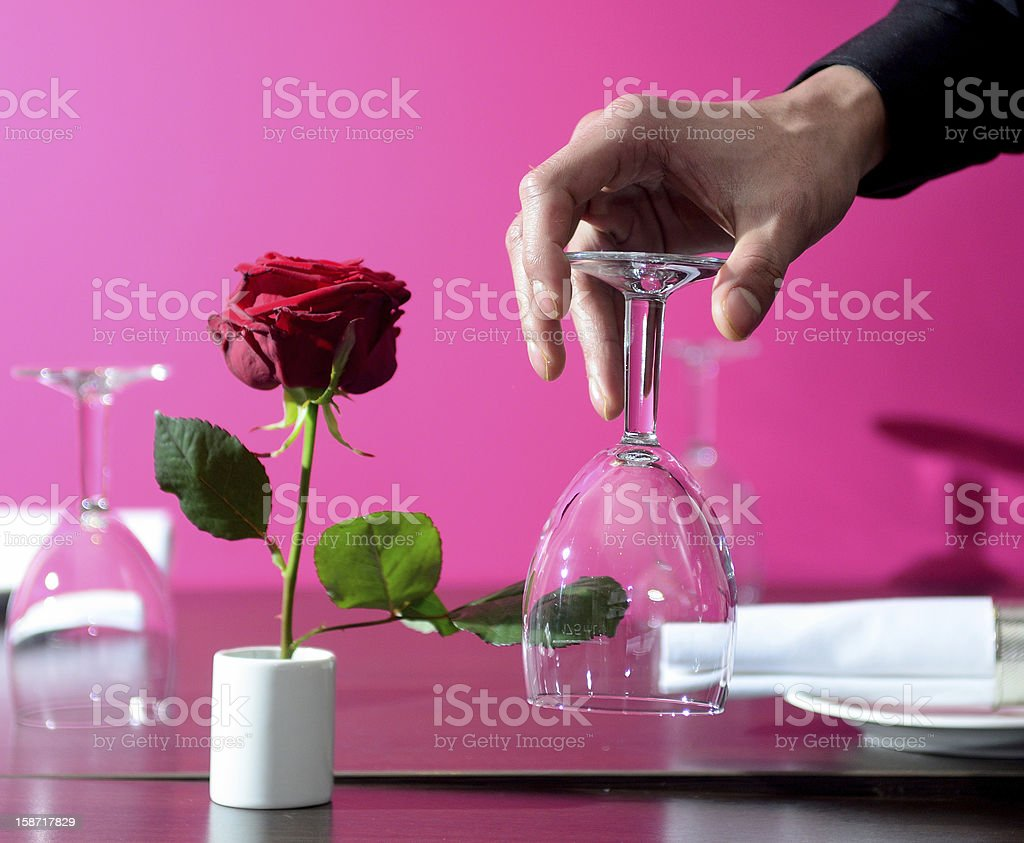 Rose on Table stock photo