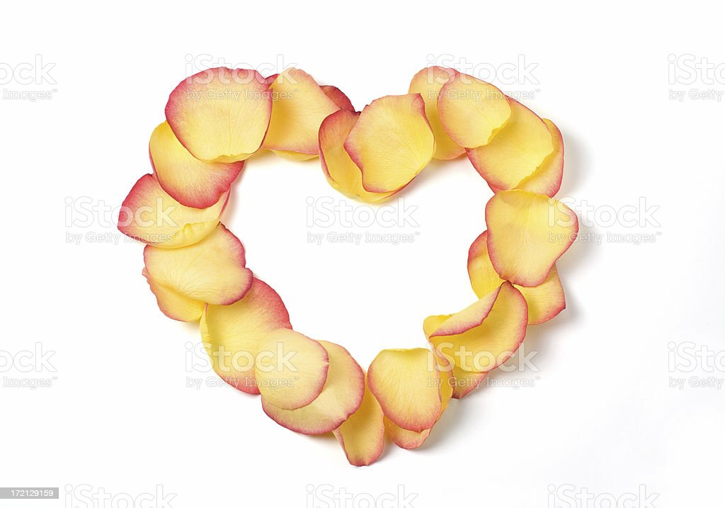Rose Petal Heart royalty-free stock photo
