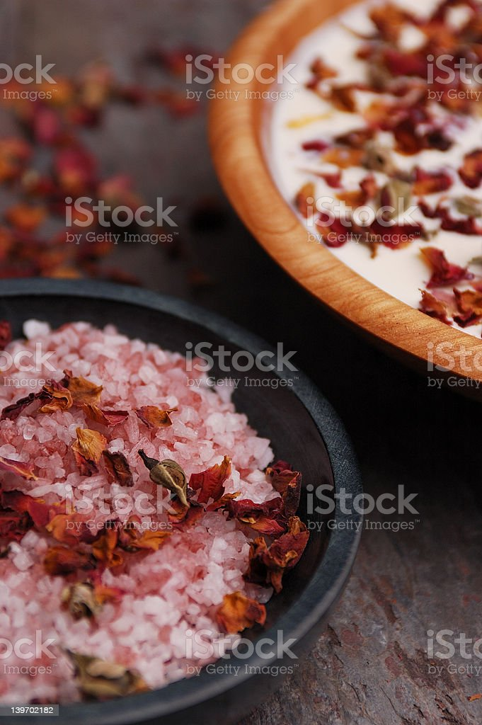 Rose Petal Spa royalty-free stock photo