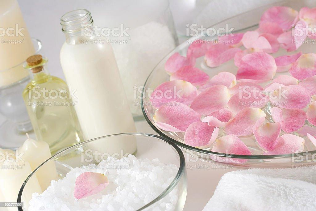 Rose petal spa royalty-free stock photo