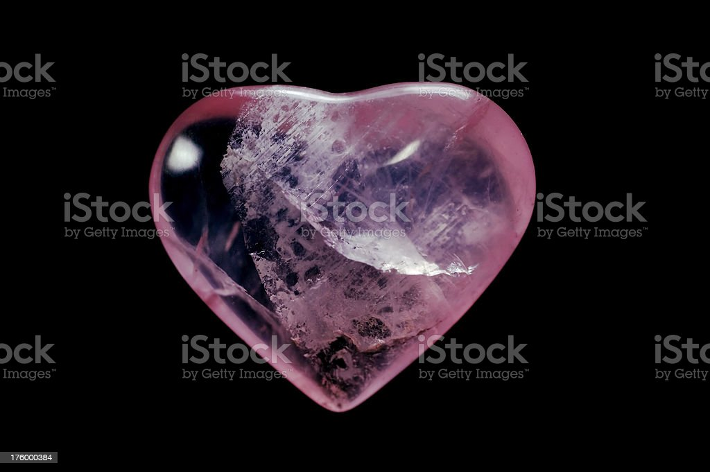 Rose Quartz Heart royalty-free stock photo