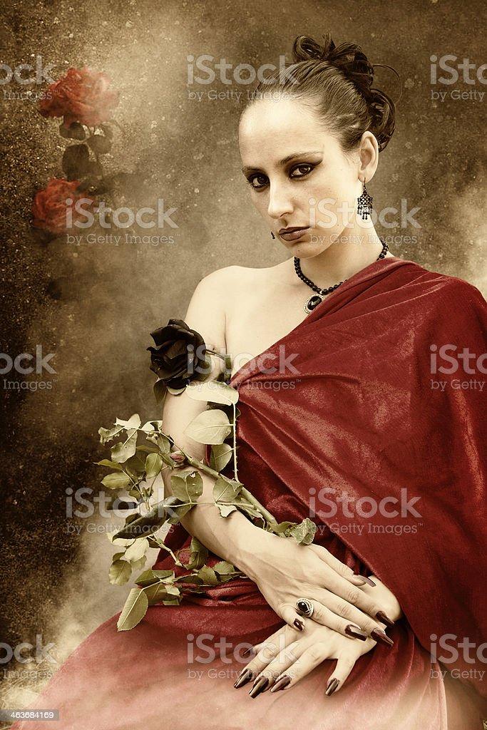 rose queen stock photo