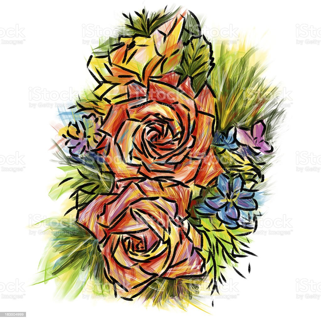 Rose sketchbook royalty-free stock photo