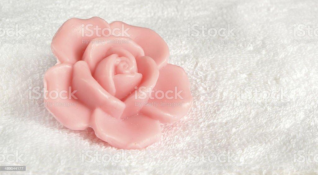 Rose soap stock photo