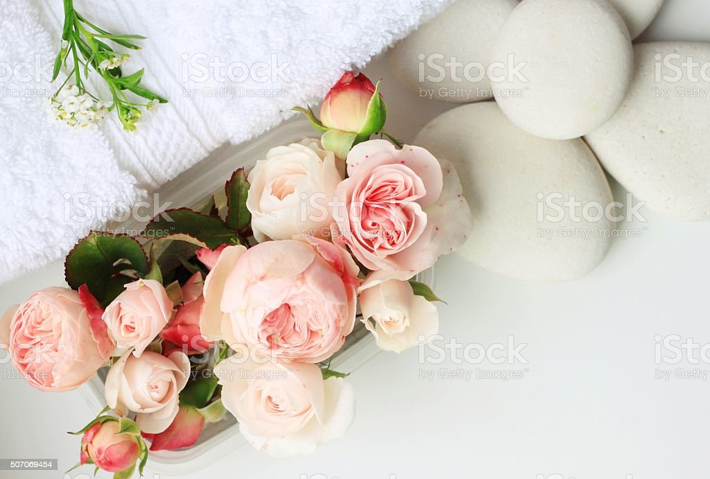 Rose spa stock photo