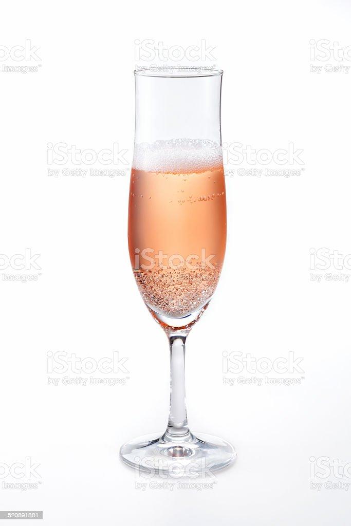 Rose sparkling wine stock photo