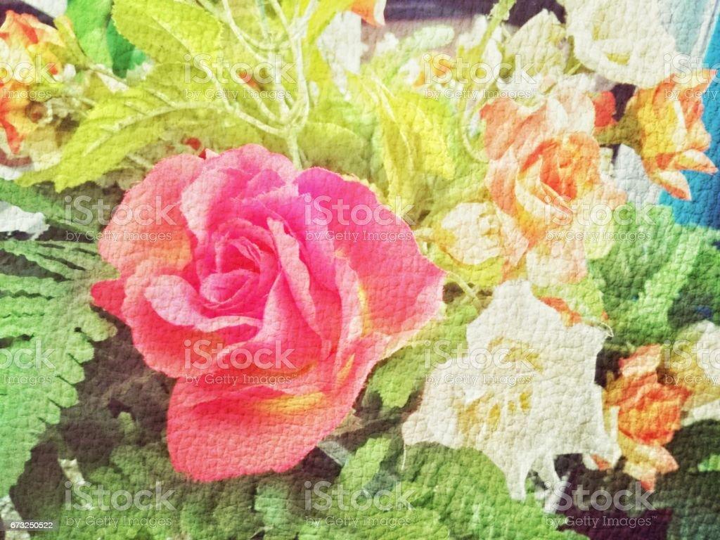 Rose Vintage Background stock photo