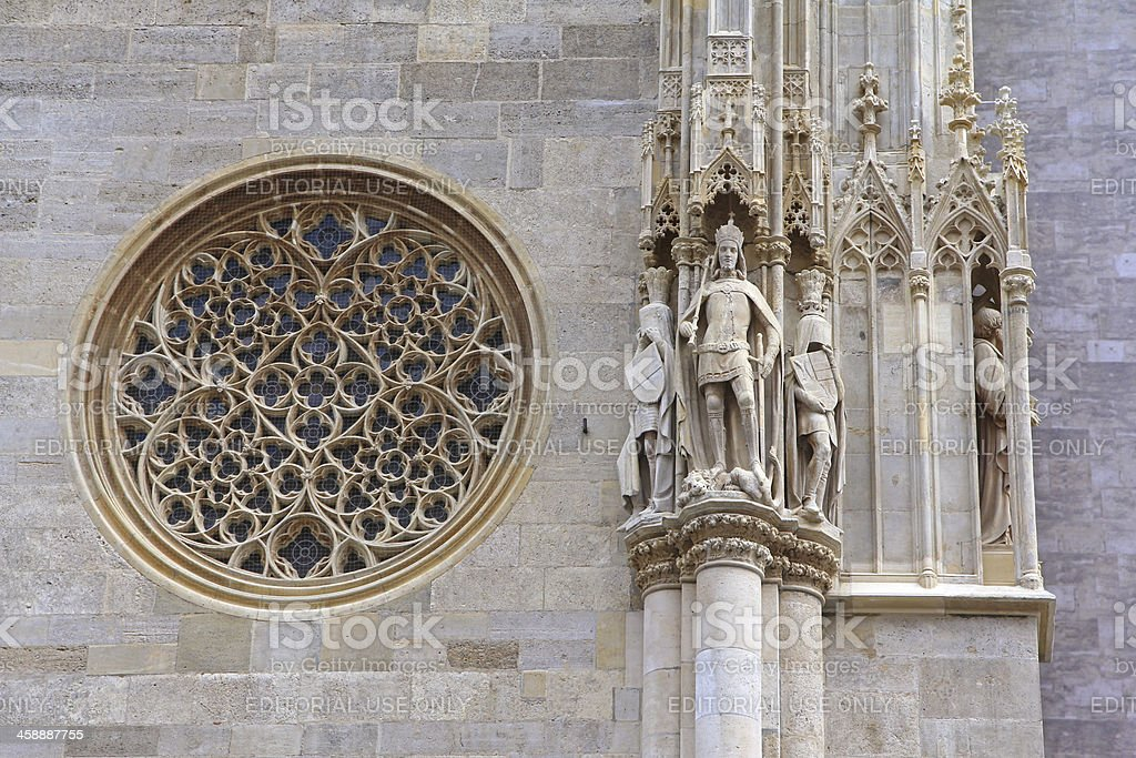 Rose Window at St. Stephen's Cathedral royalty-free stock photo