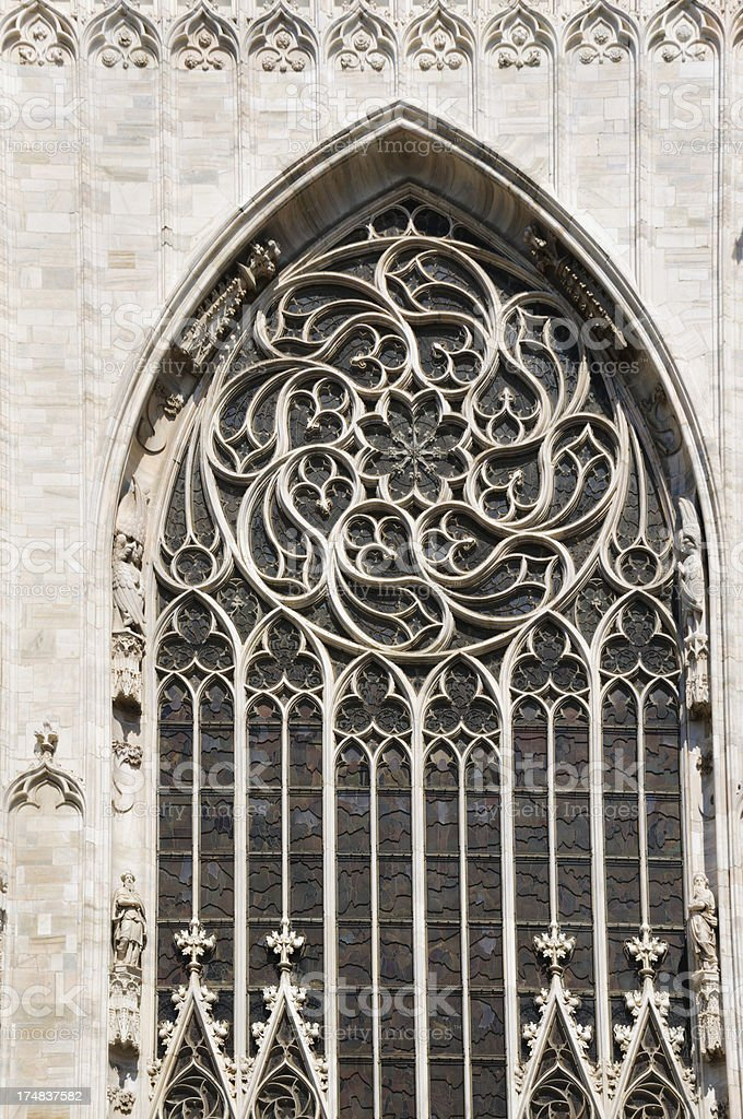Rose Window Detail-Milan stock photo