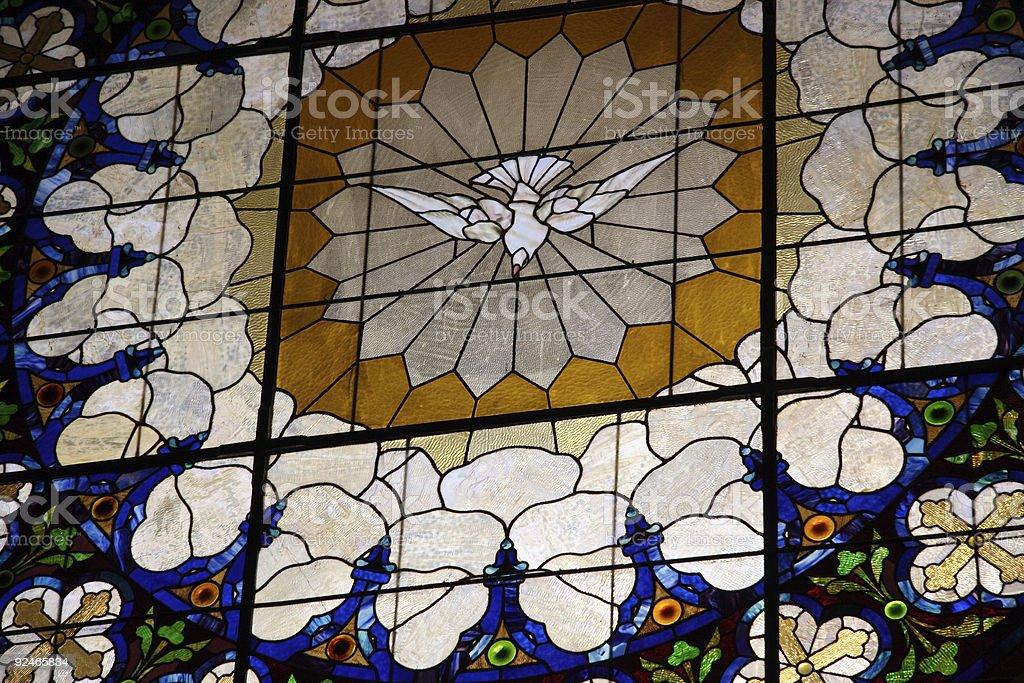 Rose window - Holy Spirit royalty-free stock photo