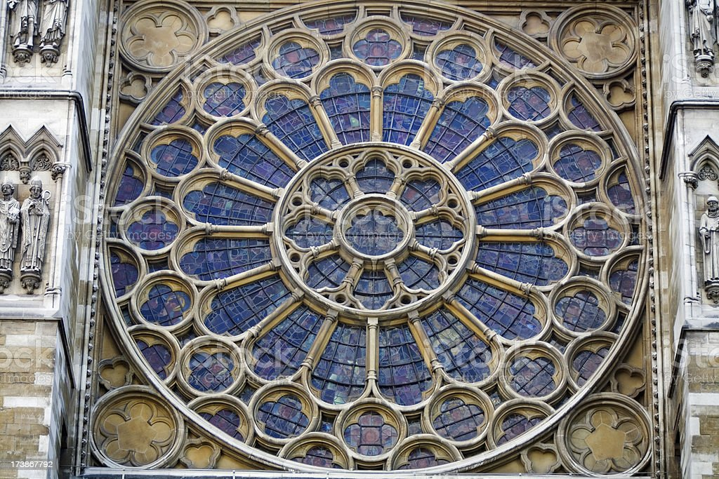 Rose Window in Cathedral royalty-free stock photo
