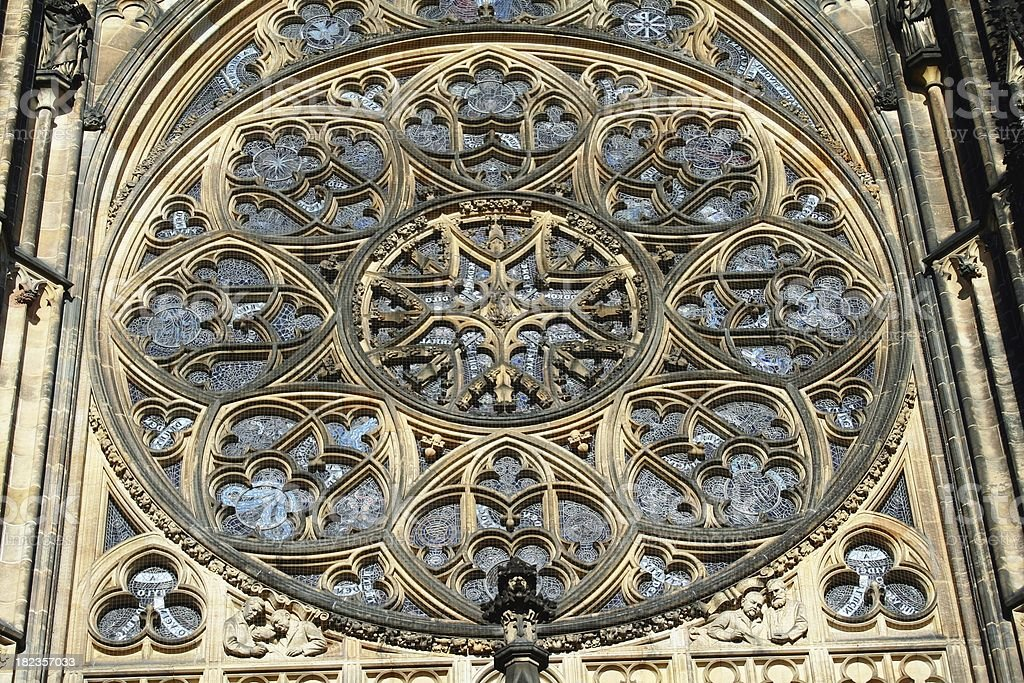 Rose window royalty-free stock photo