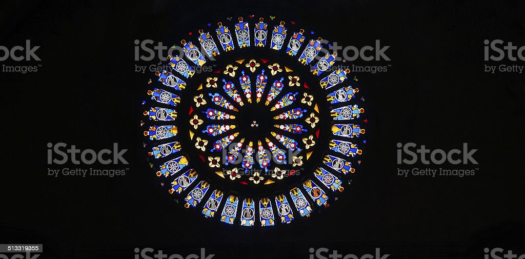 Rose window. stock photo