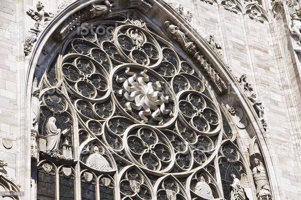 Rose Window-Milan royalty-free stock photo