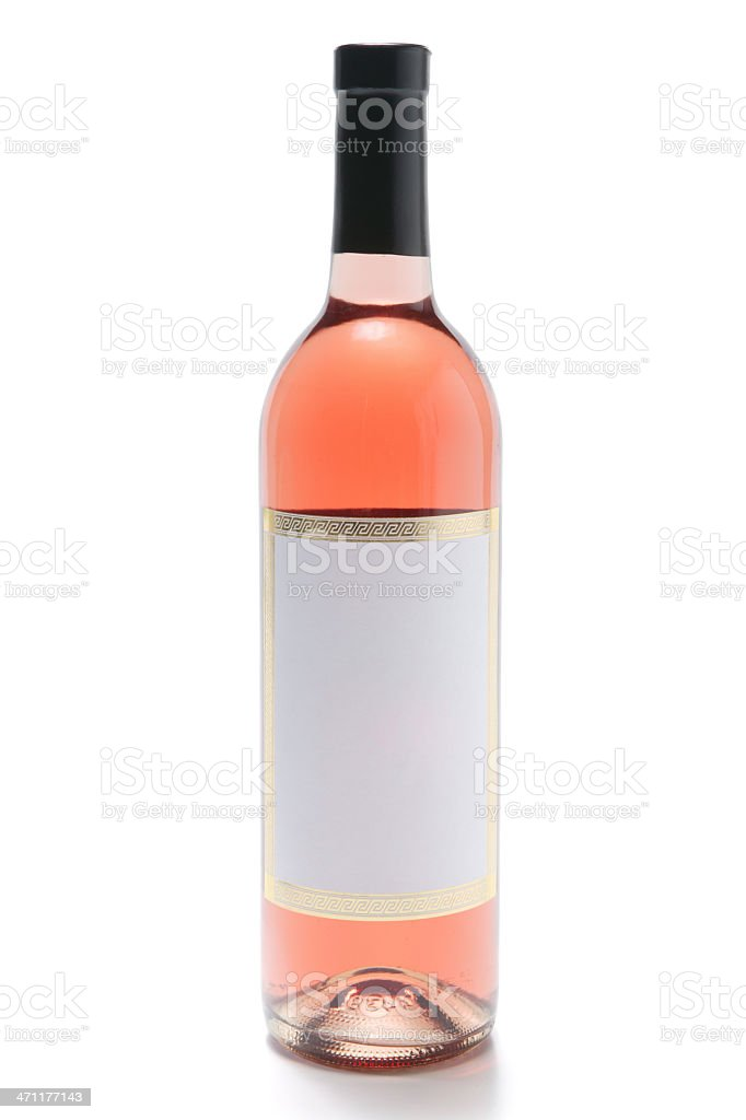 rose wine bottle(with clipping path) royalty-free stock photo