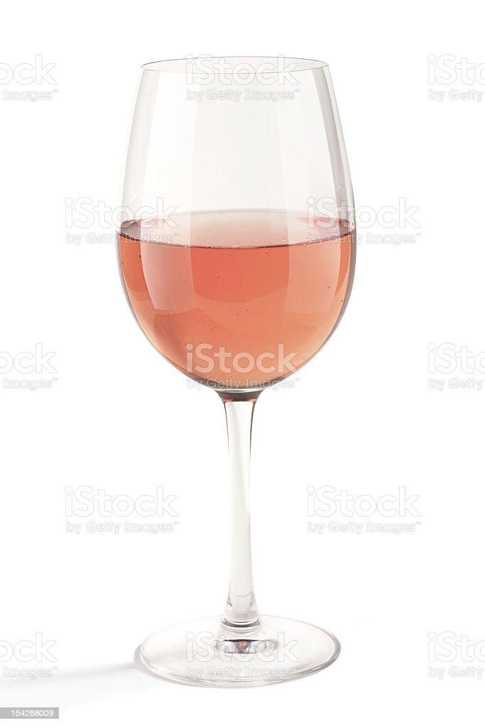 Rose Wine Glass stock photo