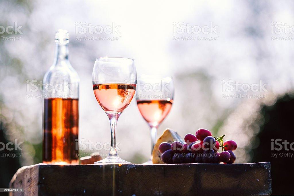 Rose wine stock photo